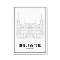 Poster A4 - Rotterdam Hotel New York