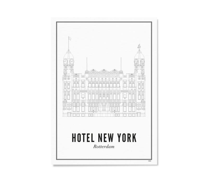 A4 Poster Rotterdam Hotel New York