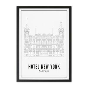 Wijck Poster A4 - Rotterdam Hotel New York