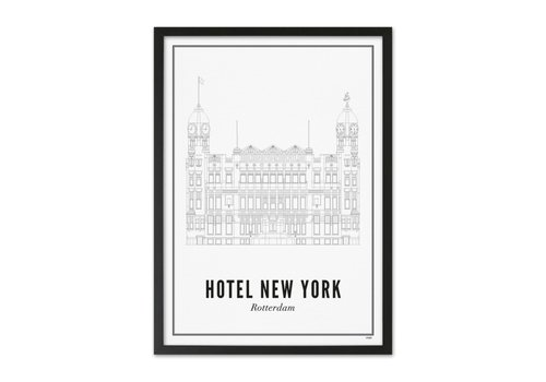 Wijck A4 Poster Rotterdam Hotel New York