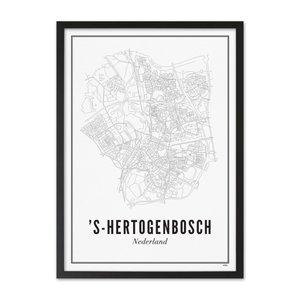 Wijck Poster A4 - Den Bosch stad