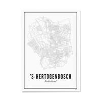 A4 Poster Den Bosch stad