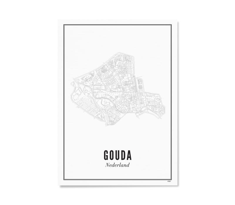 Poster A4 - Gouda stad