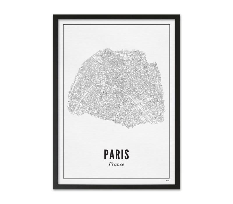 Poster A4 - Parijs stad