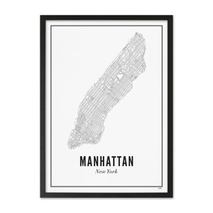 Wijck A4 Poster New York Manhattan