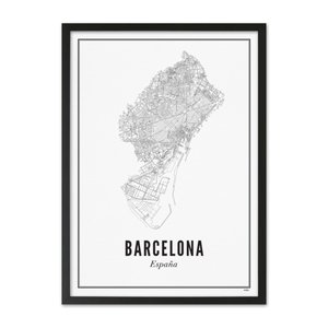 Wijck A4 Poster Barcelona stad