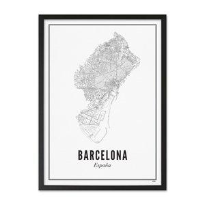 Wijck Poster A4 - Barcelona stad