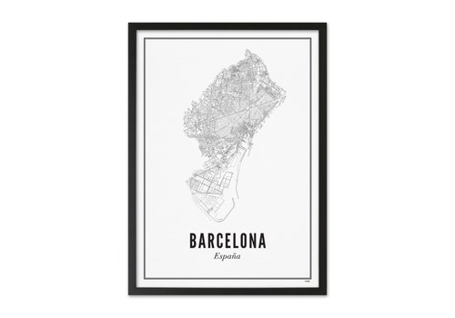 Wijck Poster A4 - Barcelona stad