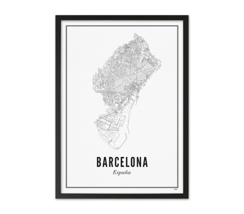 Poster A4 - Barcelona stad