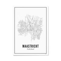 A4 Poster Maastricht stad