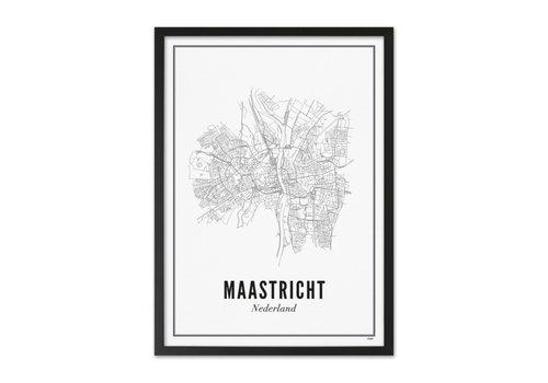 Wijck Poster A4 - Maastricht stad