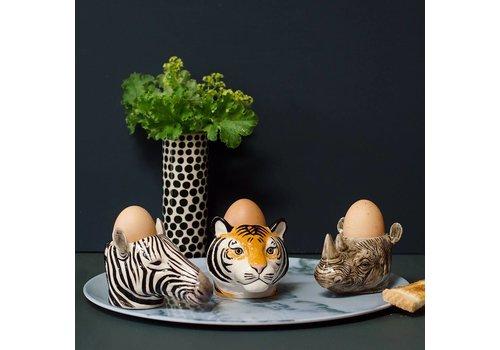 Quail Designs Eierdop of cactus potje- Zebra