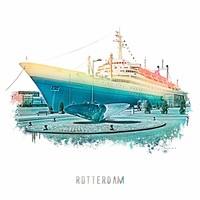 Rotterdam poster   SS Rotterdam   Vintage 30x30