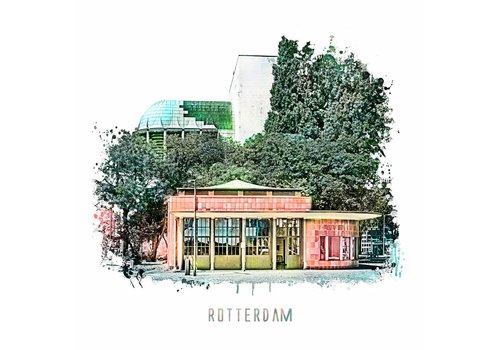 Ben Kleyn Rotterdam poster | Maastunnel | vintage 30x30