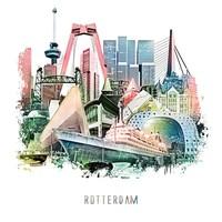 Rotterdam Collage - Vintage poster 30x30