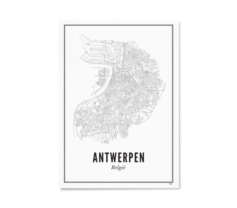 Poster A4 - Antwerpen stad