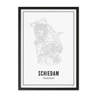 A4 Poster Schiedam stad