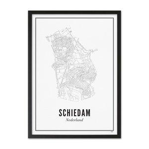 Wijck A4 Poster Schiedam stad