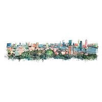Rotterdam skyline stad vintage