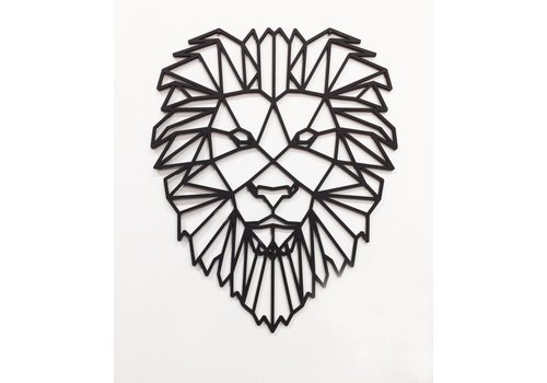 Cityshapes Leeuw 70cm mdf zwart