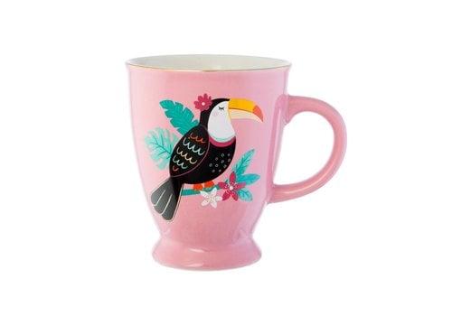 Sass & Belle Pink Tiki Toucan mug