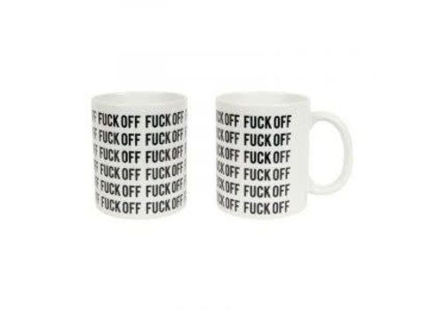 Fisura Fuck off mug zwart-wit