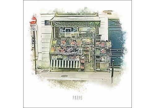 """Ben Kleyn Rue de Seine -€"""" Vintage 30x30"""