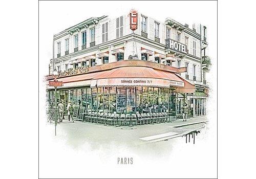 "Ben Kleyn Paris Nord cafe -€"" Vintage 30x30"