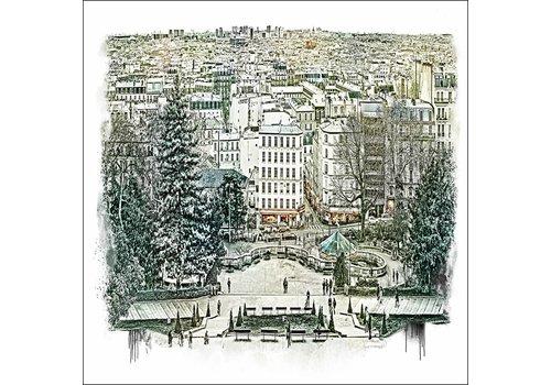 """Ben Kleyn Parijs Panorama -€"""" Vintage 30x30"""