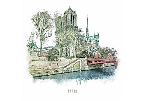 "Ben Kleyn Notre Dame -€"" Vintage 30x30"