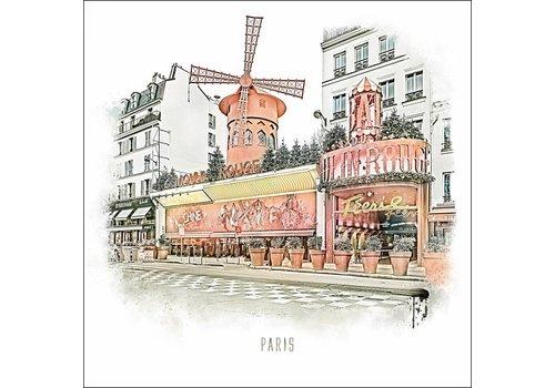 "Ben Kleyn Moulin Rouge -€"" Vintage 30x30"