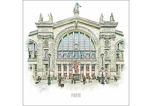 """Ben Kleyn Gare du Nord -€"""" Vintage 30x30"""