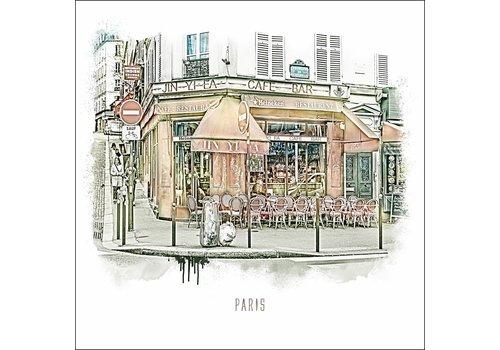 "Ben Kleyn Boulevard de Rochechouart -€"" Vintage 30x30"