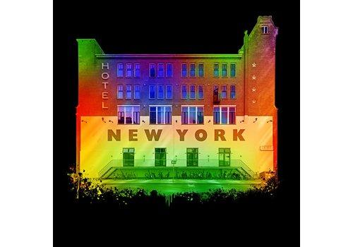 Ben Kleyn Rotterdam poster | Hotel NY Black Edition 30x30