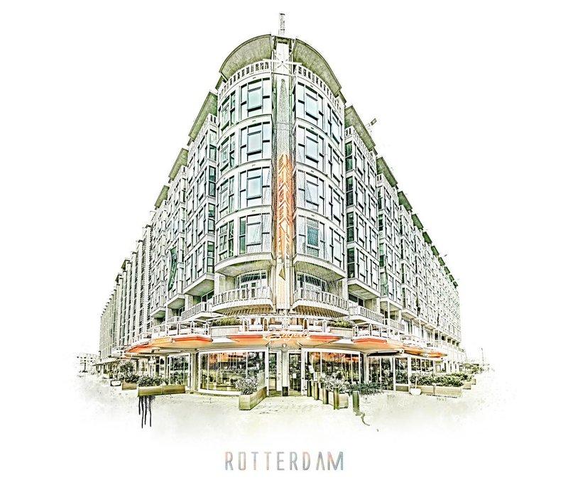 Rotterdam poster   Groothandelsgebouw   Vintage poster   30x30