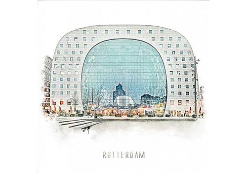 Ben Kleyn Rotterdam poster | Markthal   Vintage poster | 30x30