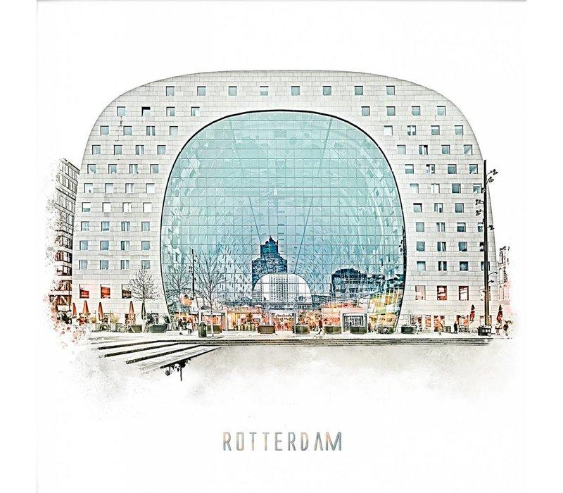 Rotterdam poster   Markthal   Vintage poster   30x30