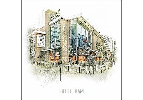 Ben Kleyn Rotterdam poster | Cafe de Beurs  Vintage 30x30