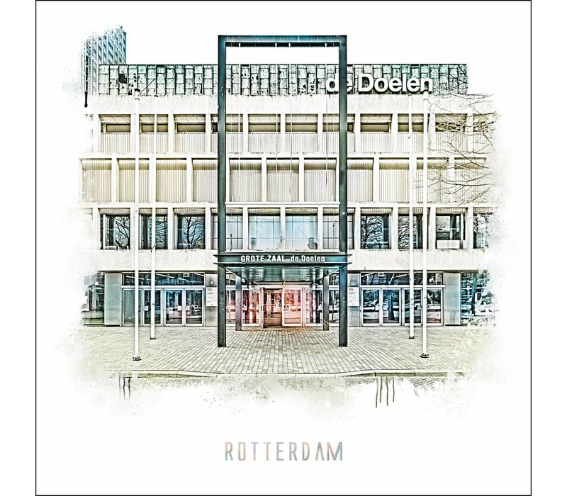 Rotterdam poster | De Doelen   Vintage poster | 30x30