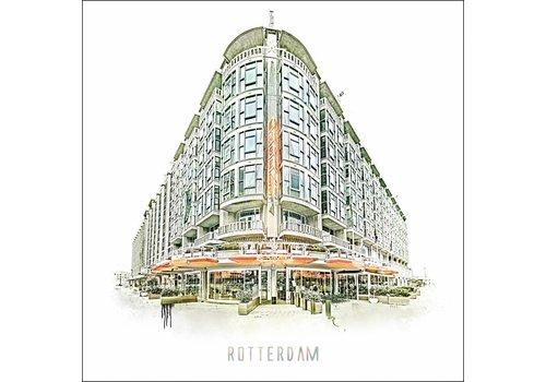 Ben Kleyn Rotterdam poster | Groothandelsgebouw   Vintage poster | 30x30