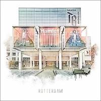 Rotterdam poster | Stadsschouwburg | Vintage poster | 30x30