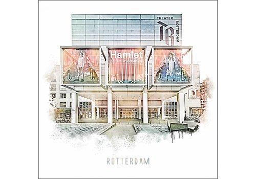 Ben Kleyn Rotterdam poster | Stadsschouwburg | Vintage poster | 30x30