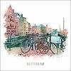 Ben Kleyn Rotterdam poster   Delfshaven Vintage 30x30