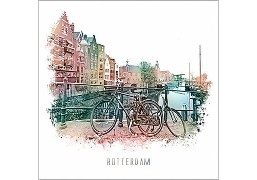 Ben Kleyn Rotterdam poster | Delfshaven Vintage 30x30