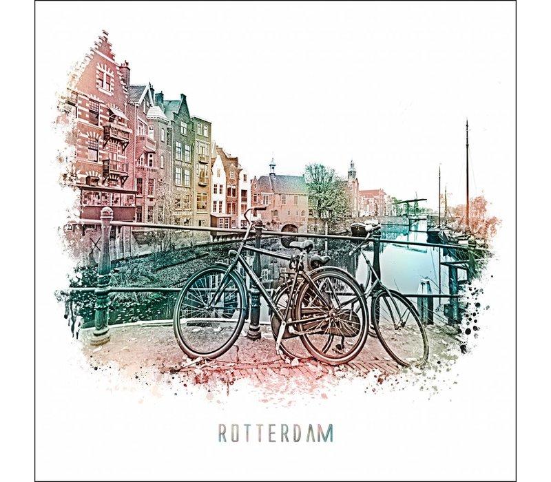 Rotterdam poster   Delfshaven Vintage 30x30