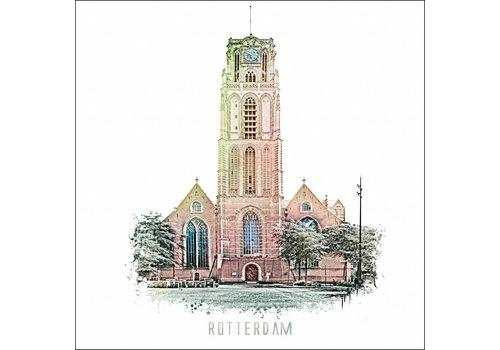 Ben Kleyn Rotterdam Laurenskerk – vintage 30x30