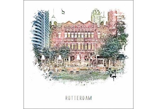 Ben Kleyn Rotterdam poster | Hotel new york   vintage 30x30