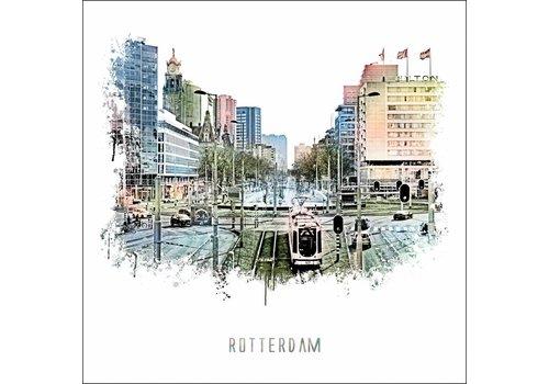 Ben Kleyn Rotterdam poster | Hofplein | vintage 30x30