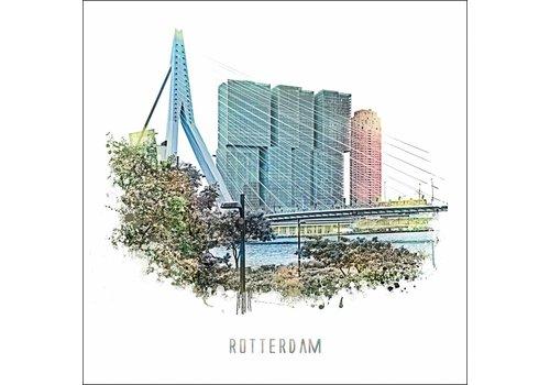 Ben Kleyn Rotterdam poster | Maasboulevard | vintage 30x30