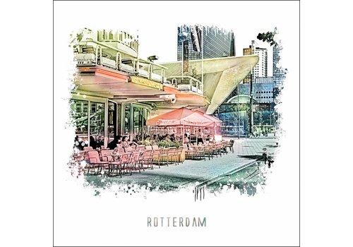 Ben Kleyn Rotterdam poster | Cafe Engels   vintage 30x30
